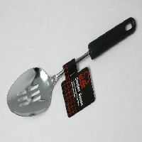 Slotted Spoon S:S Black Handle
